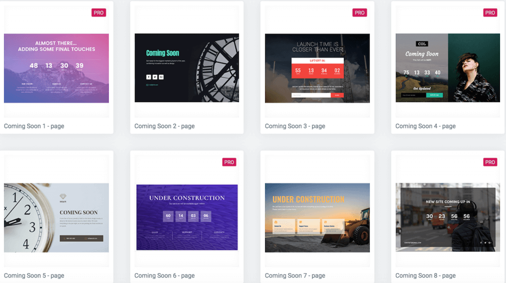 Elementor template library